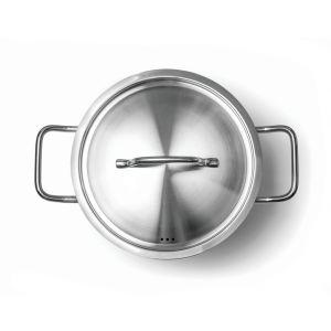 Oala cu capac, 9 lt, 24x(H)20 cm, inox, Hendi Kitchen Line, potrivita si pentru uz profesional