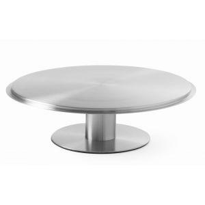 Platou tort rotativ cu picior, inox, 300x(H)90 mm, Hendi