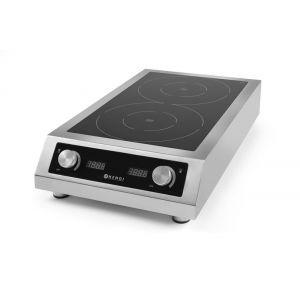 Plita inductie profesionala dubla, model 7000 D XL, putere 2x3500 W, 380V, 405x698x(X)145 mm, Hendi