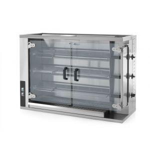 Rotisor gaz profesional pentru 12 - 15 pui 3 viteze de rotatie 1150x472x(H)795 mm Inox, Hendi