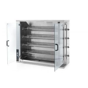 Rotisor gaz profesional pentru 16 - 20 pui 4 viteze de rotatie 1150x472x(H)981 mm Inox, Hendi