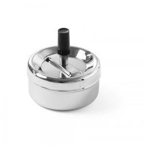 Scrumiera cu buton, placata cu crom, Ø9x4,5 cm, Hendi
