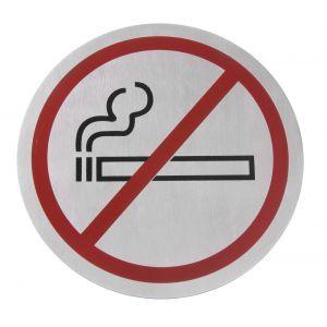 Semn pentru usa - Fumatul interzis - 160 mm - inox -Hendi