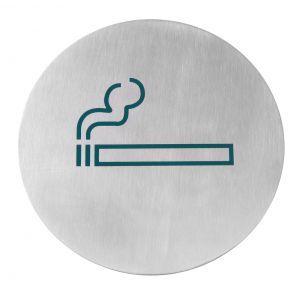 Semn pentru usa, otel inoxidabil - Fumatori - 75 mm, Hendi