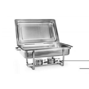 Set 2 Chafing dish Gastronorm GN1/1, adancime 65 mm, 9lt, inox, Hendi