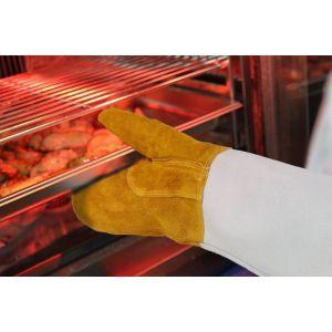 Set 2 manusi din piele pentru cuptor cu protectie pana la 250 gr C, lungime 460 mm, Hendi