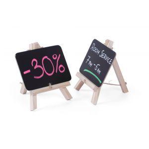Set 2 x Tabla meniu pentru masa, suport lemn, 210x150 mm, Hendi