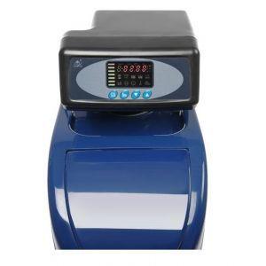 Sistem automat de dedurizare a apei prin ionizare, Albastru, debit apa 5 l/min, cu panou control digital, Hendi, rezervor regenerare 7,7 kg, 206x380x(H)480 mm