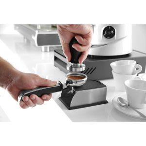 Stand presa cafea/ Stand tamper, 93x142x(H)60 mm, Negru, Silicon, Hendi