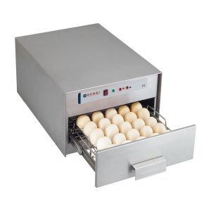 Sterilizator oua, 78 W, dezinfectare cu lampi UV, capacitate 30 oua, Argintiu, Hendi