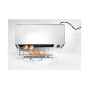 Sterilizator oua Hendi, 32 W, dezinfectare cu lampi UV, capacitate 10 oua, Argintiu, Inox