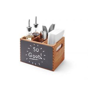 Suport tacamuri din lemn durabil cu tabla integrata 210x150x(H)150 mm, Hendi