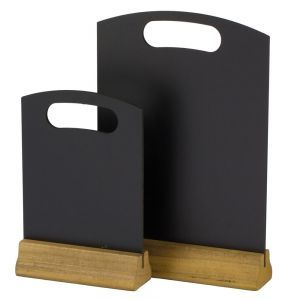 Tabla pnetru meniu, suport lemn, 210x320 mm, 2 fete pt scris, Hendi