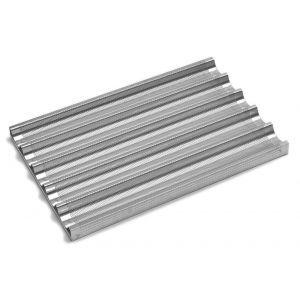 Tava cuptor pentru baghete, perforata, aluminiu, 600x400 mm, Hendi