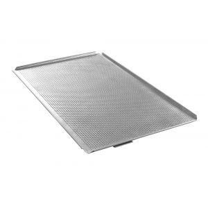 Tava cuptor perforata, GN 1/1 (535x325x(H)10 mm), cu 4 margini, aluminiu, Hendi