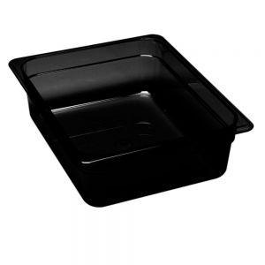 Tava Gastronorm 1/2, Hendi Plexi Line, din plexiglas negru, 325x265x(H)17 mm