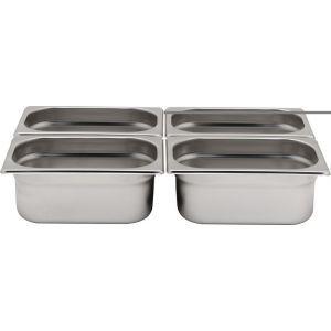 Tava Gastronorm GN 1/4 40 mm 1.7 lt - gama Hendi Profi Line, otel inoxidabil