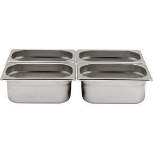 Tava Gastronorm GN 1/4 65 mm 1.8 lt - gama Hendi Profi Line, otel inoxidabil