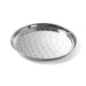 Tava pentru servire, otel inoxidabil - 400 mm, Argintiu, Hendi