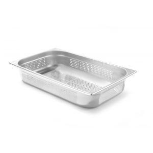 Tava perforata Gastronorm GN 1/1, 530x325x(H)100 mm ,13.2 lt, inox, Hendi Kitchen Line