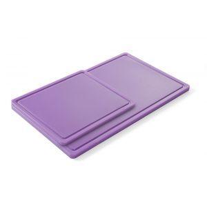 Tocator bucatarie GN 1/1, 530x325 mm, polipropilena HDPE, violet -pentru alimente ne-alergene, respecta normele HACCP, Hendi