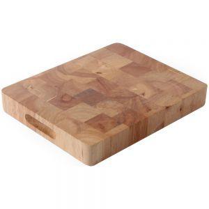 Tocator, lemn de cauciuc, GN 1/1, 53x32,5x4,5 cm, Hendi