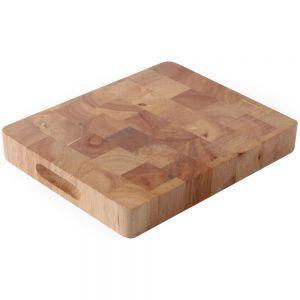Tocator, lemn de cauciuc, GN 1/2, 26,5x32,5x4,5 cm, Hendi