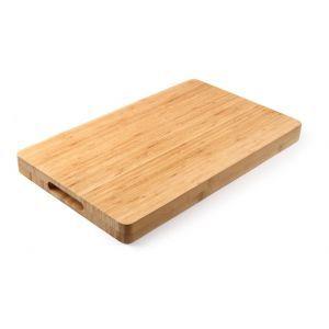Tocator masiv din lemn de bambus GN1/1, 530x325x(H)40 mm, Hendi