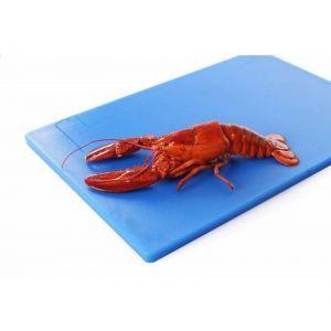 Tocator profesional albastru 60x40x1.8 cm, 2 fete pt taiat, respecta normele de igiena HACCP, Hendi